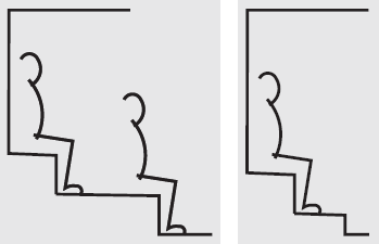 Sitzbank gestuft