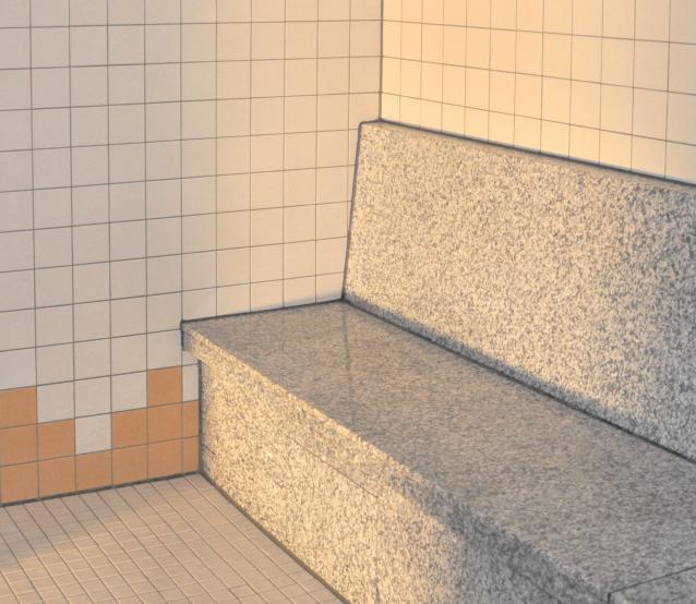 einfache Bauform Mosaik verkleidet